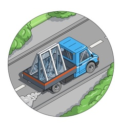 Car carry window vector image vector image