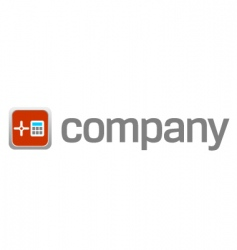 digital safe logo for security vector image vector image