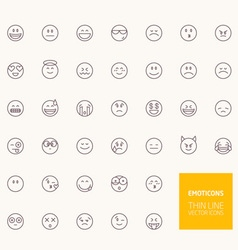 Emoticons Outline Icons for web and mobile apps vector image vector image