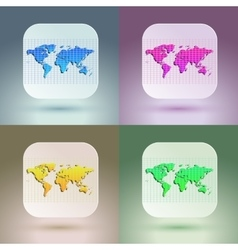 Flat map icon for application on soft background vector image