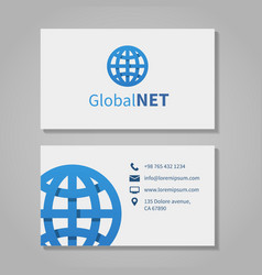 Global corporation business card vector image vector image