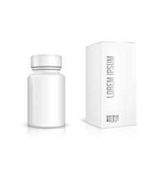 Medicine bottle on white background vector image vector image