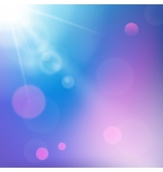 Sun rays on blue and purple colored background vector image vector image