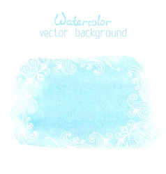 Abstract hand-drawn watercolor background vector image vector image
