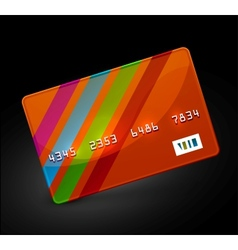 bright credit card icon vector image