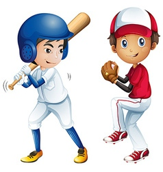 Kids playing baseball vector image