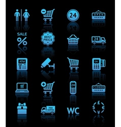 supermarket services Shopping icons vector image vector image