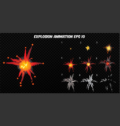 explode explode effect animation with vector image
