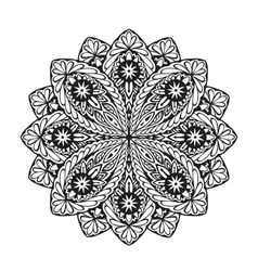 Indian ethnic mandala ornamental round lace vector