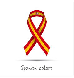 Modern colored ribbon with the spanish colors vector