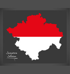 sumatera selatan indonesia map with indonesian vector image vector image