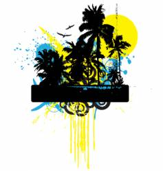 tropical grunge graphic vector image vector image