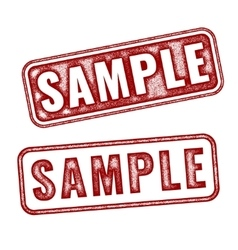 Two realistic Sample grunge rubber stamps vector image