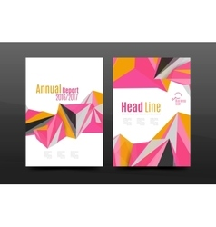 3d triangle shapes business annual report cover vector