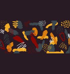 Abstract artistic trendy hand drawn brush splash vector