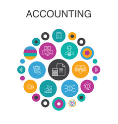 Accounting infographic circle concept smart ui vector