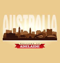 Adelaide australia city skyline silhouette vector