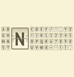 Airline flip beige board regular alphabet to vector