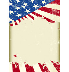 american flag frame vector image