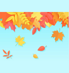 an autumn design template vector image