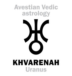 Astrology planet khvarenah pharn uranus vector