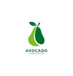 Avocado fruit logo designs vector