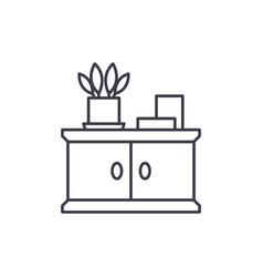 bathroom cabinet line icon concept bathroom vector image