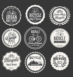 bicycle retro badges and labels collection vector image