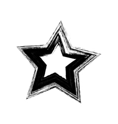 Black grunge star vector