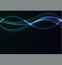 blue flame curve layer abstract background vector image