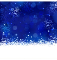 Blue winter Christmas design with vector image vector image