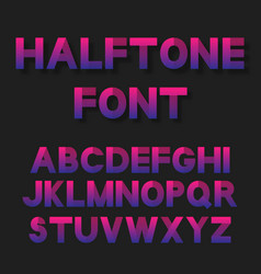 bright color dotted halftoned font vector image