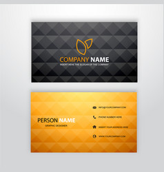 Business card identity corporate template vector
