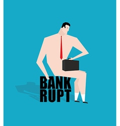 Businessman bankrupt debtor sad businessman vector