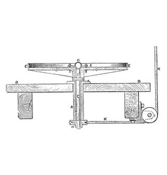 Centrifugal machine vintage vector