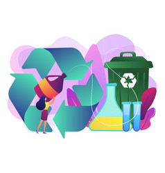 Chemical recycling concept vector
