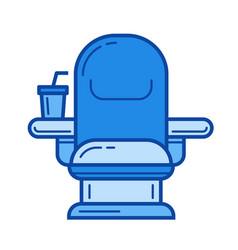 cinema chair line icon vector image
