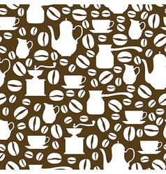 coffee seamless brown vector image