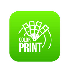 color print icon green vector image