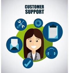 customer support vector image