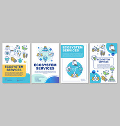 Ecosystem services brochure template layout vector