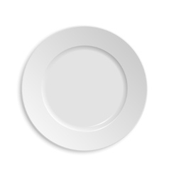 Empty plate Isolated on white background View vector