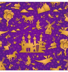 Fairytale pattern vector