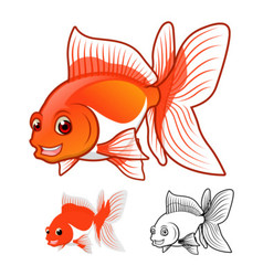 Fantail GoldFish vector image