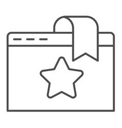 Favorite window tab thin line icon website vector