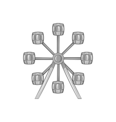 Ferris wheel icon black monochrome style vector