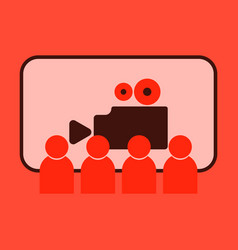 Flat icon people in cinema vector