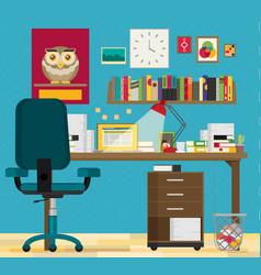 flat working place vector image