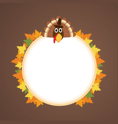 Frame design thankgiving theme collection vector