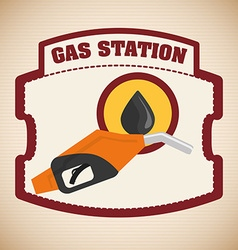 Gas Station design vector image